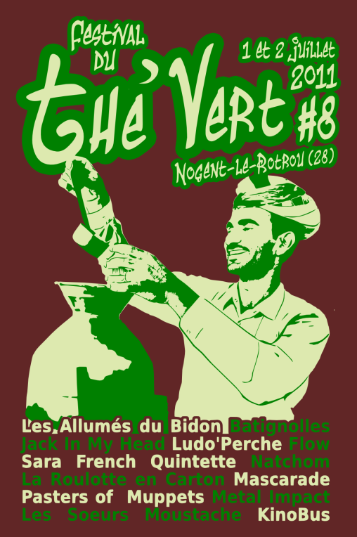 Festival du Thé Vert 2011 - T-Shirt arrière