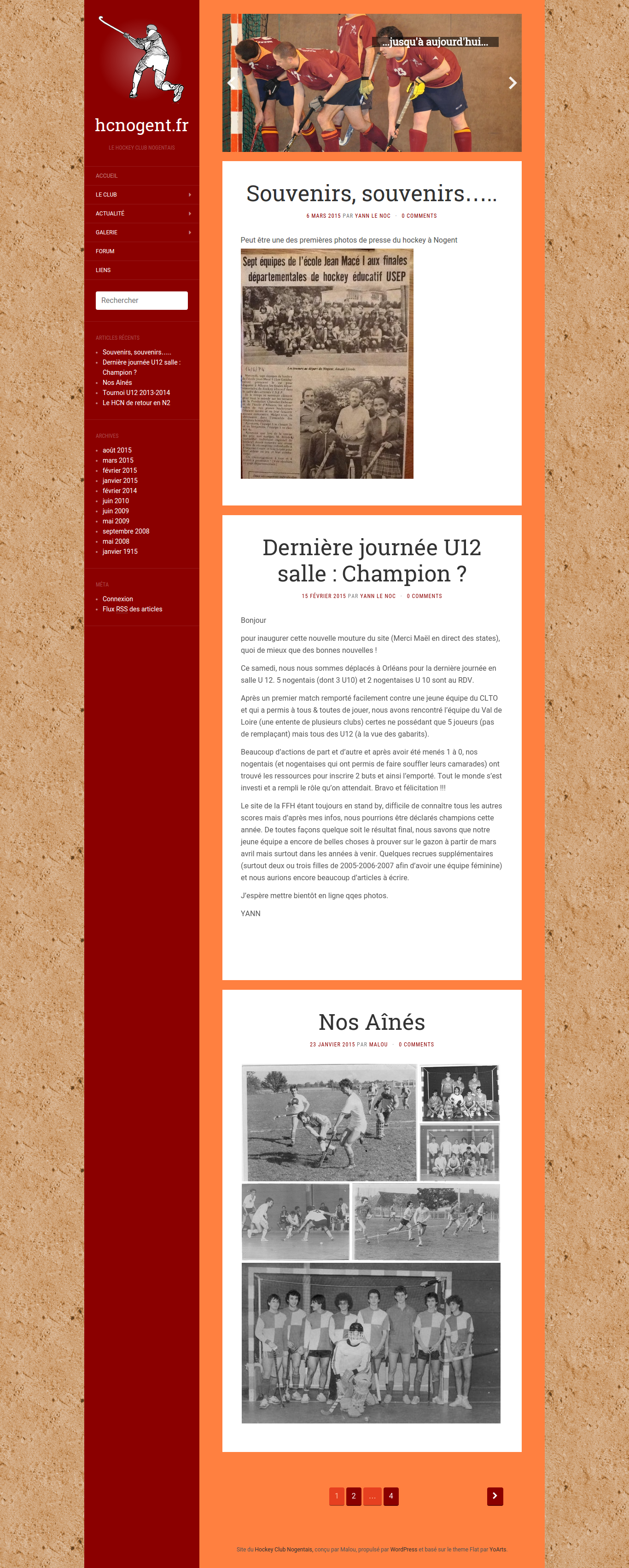 Website of the Nogent Le Rotrou field hockey club - Homepage