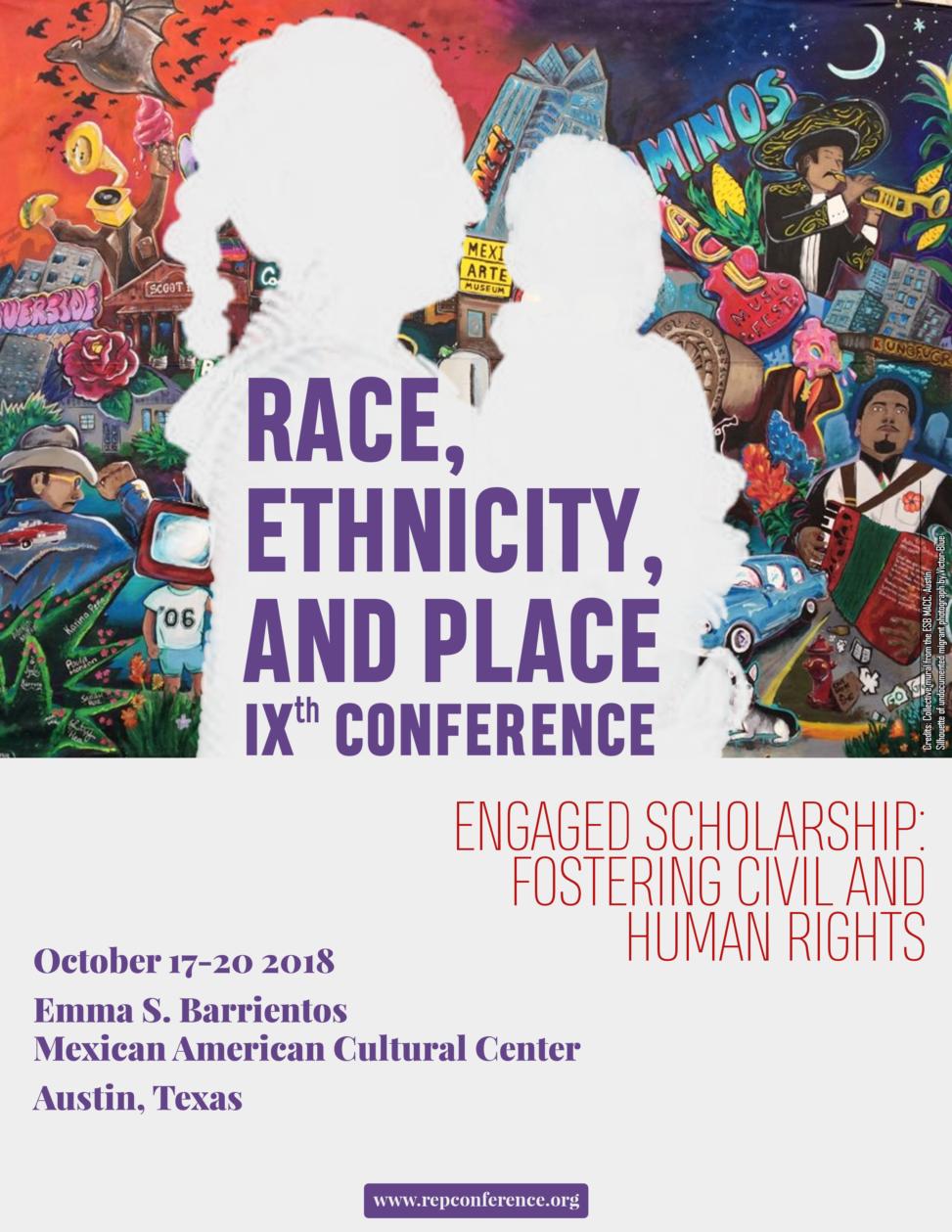 """Affiche de la IXe Conférence """"Race, Ethnicity, and Place"""""""