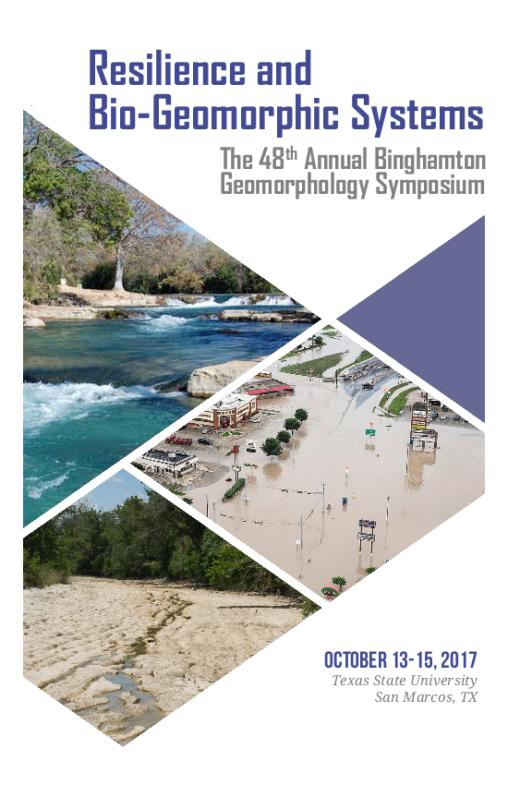 Binghamton Geomorphology Symposium Program - Cover