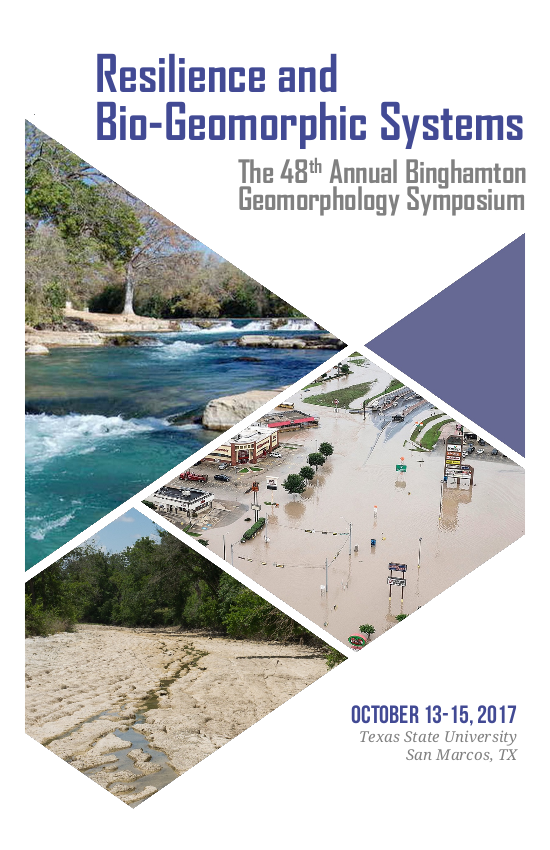 Binghamton Geomorphology Symposium Program - Cover